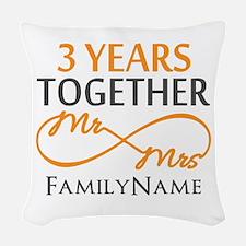 3rd anniversary Woven Throw Pillow