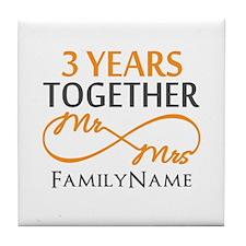 3rd anniversary Tile Coaster