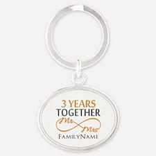 3rd anniversary Oval Keychain
