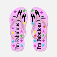 I Am Fabulous Flip Flops
