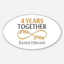 4th anniversary Sticker (Oval)