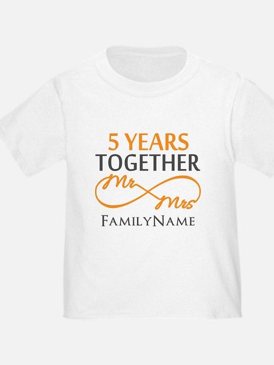 5th wedding anniversary T
