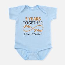 5th wedding anniversary Infant Bodysuit