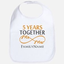 5th wedding anniversary Bib