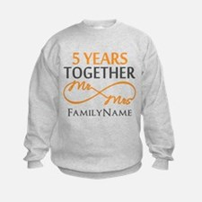 5th wedding anniversary Sweatshirt