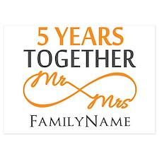 5th wedding anniversary 5x7 Flat Cards