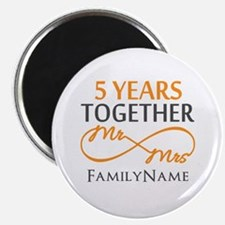 "5th wedding anniversary 2.25"" Magnet (100 pack)"