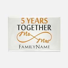 5th wedding anniversar Rectangle Magnet (100 pack)