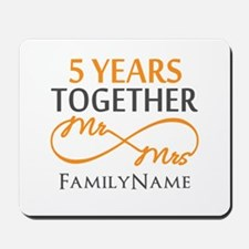 5th wedding anniversary Mousepad