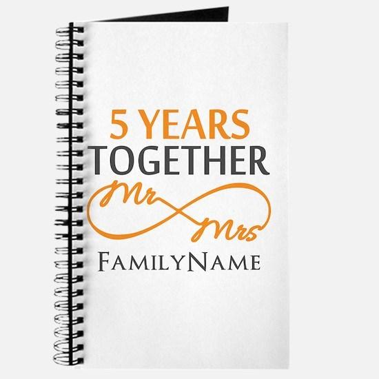 5th wedding anniversary Journal
