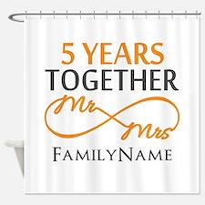 5th wedding anniversary Shower Curtain