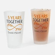 5th wedding anniversary Drinking Glass