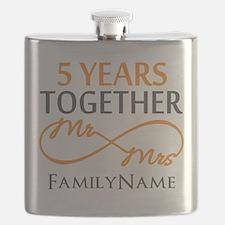 5th wedding anniversary Flask