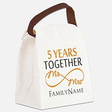5th wedding anniversary Canvas Lunch Bag