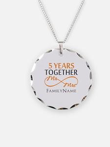 5th wedding anniversary Necklace