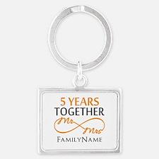 5th wedding anniversary Landscape Keychain