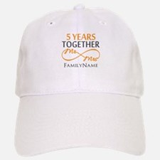5th wedding anniversary Baseball Baseball Cap