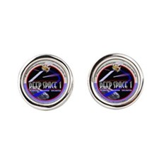 Deep Space Logo Round Cufflinks