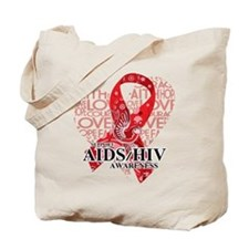 AIDS HIV Love Hope Bird Tote Bag