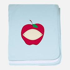 Red Apple baby blanket