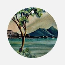 The Bay Of Naples Round Ornament