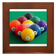 9 Ball Rack Framed Tile