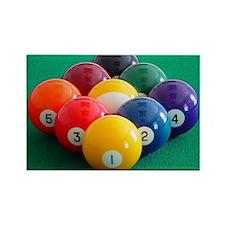 9 Ball Rack Rectangle Magnet