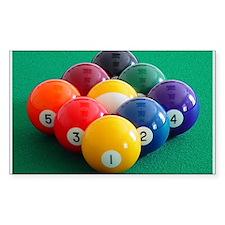 9 Ball Rack Rectangle Decal