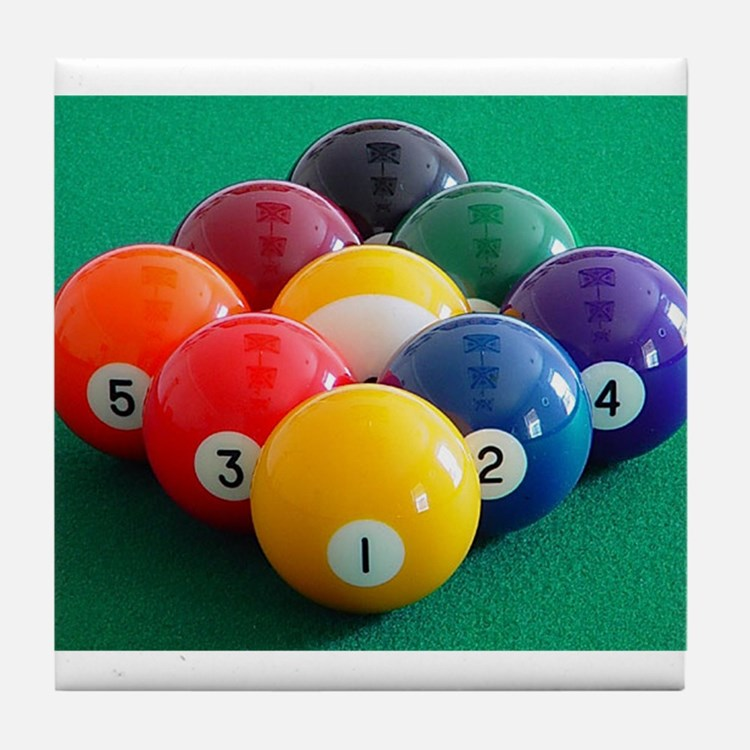9 Ball Rack Tile Coaster