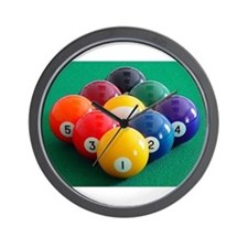 9 Ball Rack Wall Clock