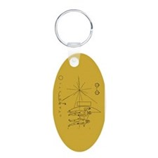 Pioneer Space Plaque Keychains