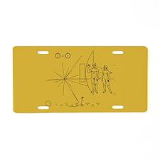 Pioneer Space Plaque Aluminum License Plate