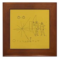 Pioneer Space Plaque Framed Tile