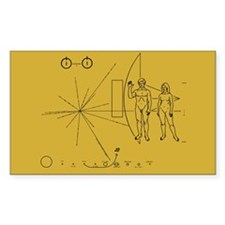 Pioneer Space Plaque Decal