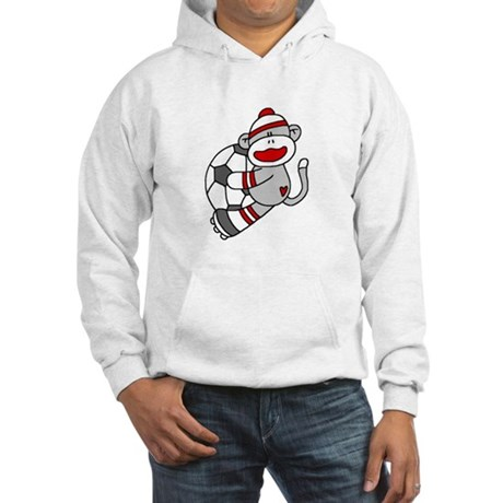 Sock Monkey Soccer Hooded Sweatshirt