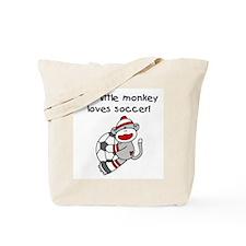 Little Monkey Loves Soccer Tote Bag