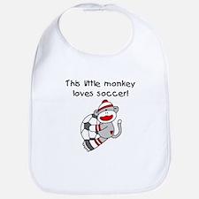 Little Monkey Loves Soccer Bib