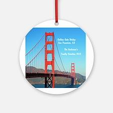 Personalized Golden Gate Bridge Ornament (round)