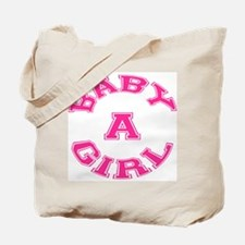 Multiple Baby Girl Baby A Announcement Tote Bag