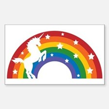 Retro Rainbow Unicorn Decal