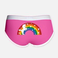 Retro Rainbow Unicorn Women's Boy Brief
