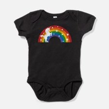 Retro Rainbow Unicorn Baby Bodysuit