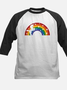 Retro Rainbow Unicorn Baseball Jersey