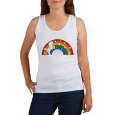 Retro Rainbow Unicorn Tank Top