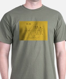 Pioneer Space Plaque T-Shirt