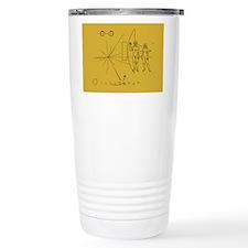 Pioneer Space Plaque Travel Coffee Mug