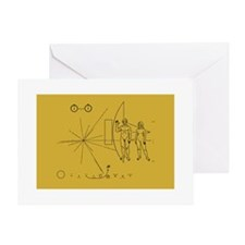 Pioneer Space Plaque Greeting Card