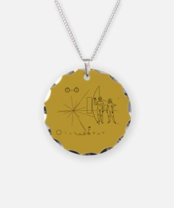 Pioneer Space Plaque Necklace