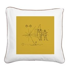 Pioneer Space Plaque Square Canvas Pillow