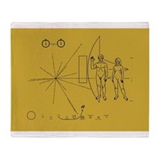Pioneer Space Plaque Throw Blanket